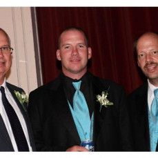 This is one of my favorite pictures of Michael with Brandon and Dad at DJ's wedding!!! - Jill Hirte