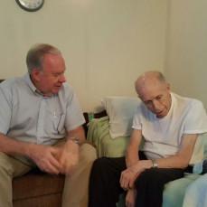 David Hickman talking to Uncle Tony about Jesus! So thankful! - Jen Street