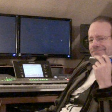 Mark on the phone in his studio... - Kevin Simnacher