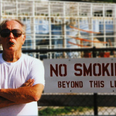One of my favorite memories of Dick was one of the times we went out to watch the barges go through the locks.  This picture is one of my favorites of him, and reminds me of all the good talks we've had over the years while we sat and smoked our cigars. - David Bosshard