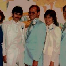Rick & siblings at his June 16, 1984 wedding: Karla, Rick, Roger, Beth & Norm. - Ralph J Wittich-Riley-Freers Funeral Home