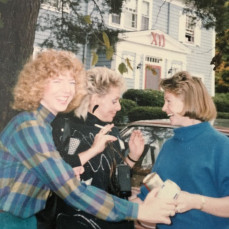 As usual, Cory cracking up her Chi O sisters on a trip back to Durham  - Marty Leighton
