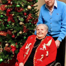 Jack and Betty Box on their 70th wedding Anniversary, Christmas Eve 2017. - Kevin Box