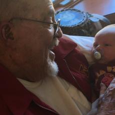 Great grandpa & Connor Thomas - Candice Martin