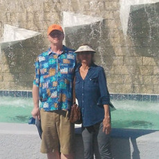 Kevin G. Austin and Gloria Austin, March 18, 2018, Minnesota Twins Spring training complex, Lee County, Florida - Kevin G. Austin