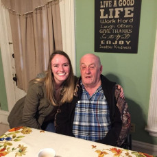 Thanksgiving 2016. This was the first time I met my Grandpa in person. - Tiffany Anderson