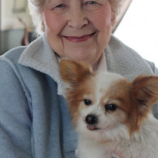 Mom and Pierre, the Papillon - Linda O'Brien