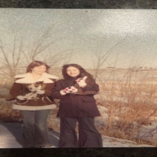 Mary and I on the farm. - Carmen Pirruccello