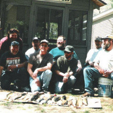 the boys on one of many fishing trips  - Jim B