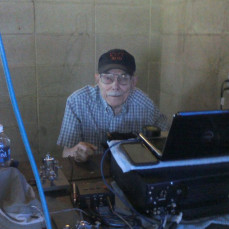 Dad at the computer, Amateur Radio Field Day and at the antique truck show with Jim. - From Jim Morin