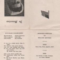 Original Memorial Service Folder - .