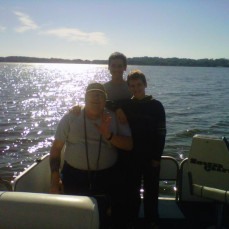 My Dad, Son's and I spent as much time as possible fishing together. It is because of him I love to fish!!!! This is something my Boy's and I will miss so much! - kellie dorn