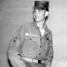 Gary Kolkman serving in the US Army 1957. - Elliott Chapel