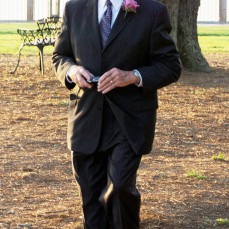 Gary Kolkman at Point Clear, Alabama attending Grandson Stuart and Chelsea Kolkman's wedding. - John A Kolkman