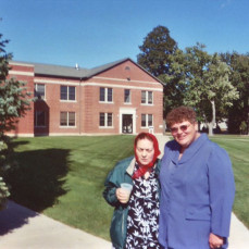 Emma in 2003 in Storm Lake the day she received recognition from Gov. Vilsack. - Donna Ryherd
