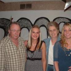 Connie and Linda with Amanda (Mandey) and Leandra at Mandey's high school graduation - Merri-Ann