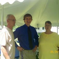 Kyler making Grandma laugh at graduation :) - Kyler