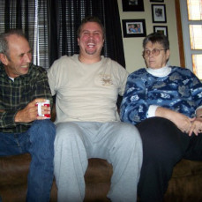 Tyler having a good time with his parents! - Tyler