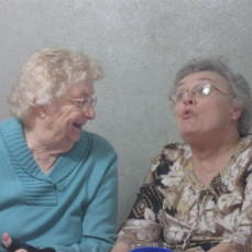 Mom & Louise Schmeling, Christmas 2014 - Joyce Funeral Home