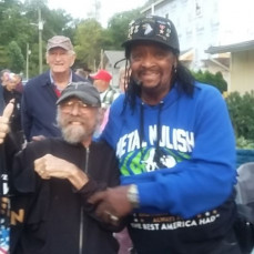 Rick and the High Lake Veterans during the Snapper Mitchum Concert. - Charlie Arnett