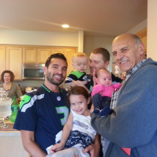 Mark with two sons and three grandchildren - Pat Lessard