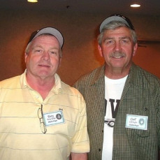 Terry with buddy Carl Aegler at the 2007 Reunion in Las Vegas. Terry never missed a reunion prior to 2016.  - Carol Farr
