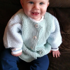 The beautiful sweater Mary knitted for my son - Kimberly Vernacchio