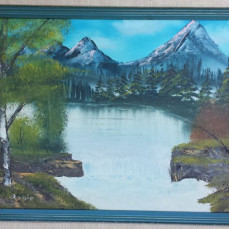 One of Dad's paintings - Beth