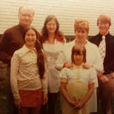 1970s family picture - Karen Burdette