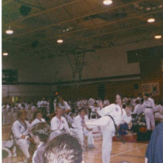 Tykwondo tournament and students of Master Menneke in Sioux Falls in the 90's - Holly Newhouse