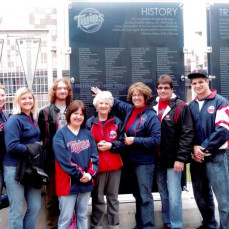 - Saxe Family  at Target Field