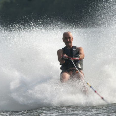 Thanks for teaching me how to barefoot ski.....and making me realize, i shouldn't be doing this!!   :-) - Mike Schmidt