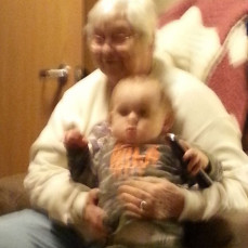 Henry (18 months) with great-grandma Elaine - Mary Wruck