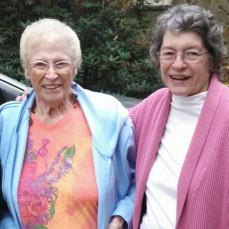 Friends for 60 years. Marilyn & Roxie - Karen Burdette