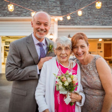 Best flower girl ever! We love you, Eileen, and look forward to when we can celebrate with you in heaven. - Judy Delp