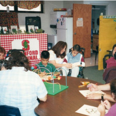 Dora working in the classroom at Clerklier Held Elementary. She was a wonderful teacher assistant!  - Henry Hernandez