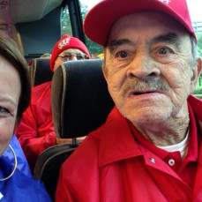 Badger Honor Flight. Long day but the experience of a lifetime! - Charlene