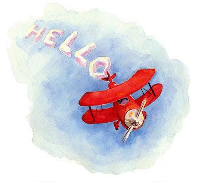 Watercolor-Airplane