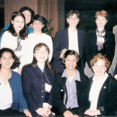 Suzanne with some of her grateful students, ~2000 - Philip Cohen