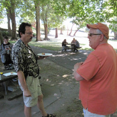 At the PSRG Picnic with Barry K7PAL - Don Abeles