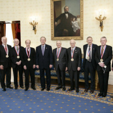 Ed Lightfoot receiving the National Medal of Science - Manos Mavrikakis