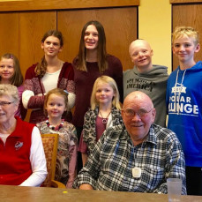 With great-grandchildren from the Debra Parker (Buss) family at Thanksgiving 2017 - Luke Patrick