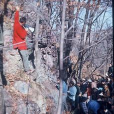 Geology 102 field trip at Rock Springs Park on October 26, 1968. - Bob Blodgett
