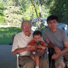 Pat with his great great nephews - Dawn