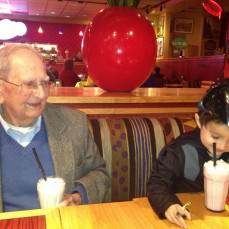 Pat and his great, great nephew Alex Adil - Dawn