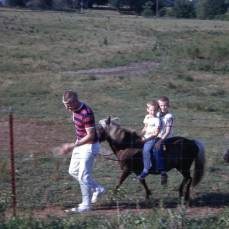 TOM and me on a horse circa 1966 - Greg Buntain