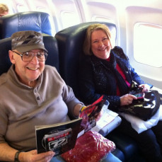 On way to Las Vegas to see the Beatles Love with Gene and Jane Frank - Gene Frank