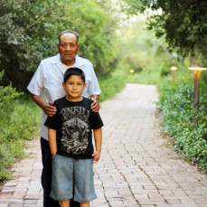 Grandpa and grandson - Leon Hernandez