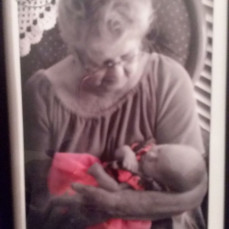 Arlene and her first great great granddaughter  - Chris Sink
