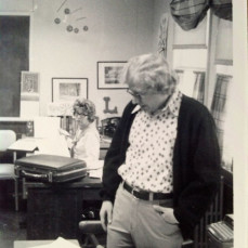 Owen Dean at his desk in the office we shared at Iowa State - Terry Hovland
